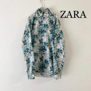 【夏にもってこい!】ZARA MAN 花柄シャツ 綿100%