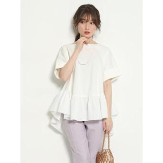 アベニールエトワール(Aveniretoile)の裾フリルチュニック(カットソー(半袖/袖なし))