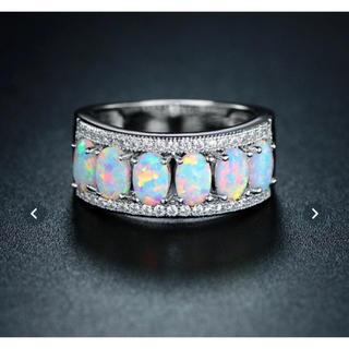 オパールダイヤモンドリング925刻印ありリング‼️破格値段(リング(指輪))