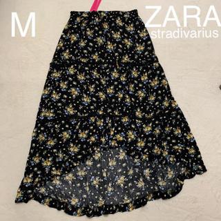 ザラ(ZARA)の新品タグ付  ZARA stradivarius 小花柄 ロングスカート M(ロングスカート)