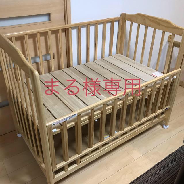 KATOJI(カトージ)のカトージ ベビーベッド ハイタイプ キッズ/ベビー/マタニティの寝具/家具(ベビーベッド)の商品写真