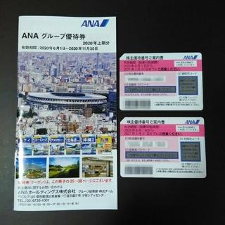 ANA(全日本空輸) - ANA 株主優待券 2枚 (ANAグループ優待券1冊付き)