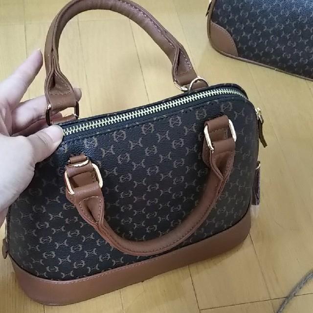 しまむら(シマムラ)のマカダム柄 ラウンド ショルダー セット レディースのバッグ(ショルダーバッグ)の商品写真