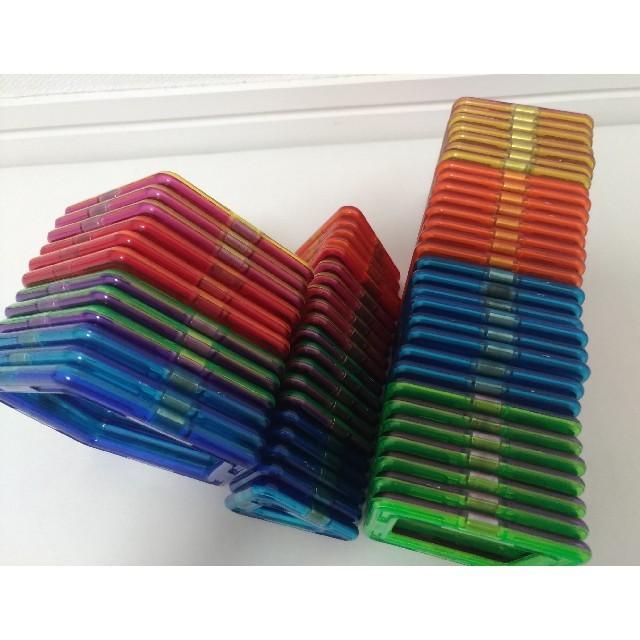 BorneLund(ボーネルンド)のマグフォーマー ボーネルンド 62ピース キッズ/ベビー/マタニティのおもちゃ(知育玩具)の商品写真