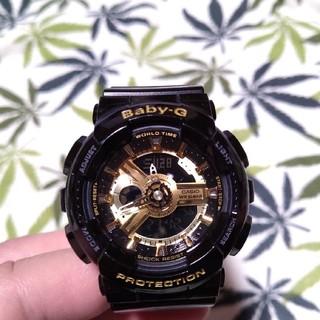 ベビージー(Baby-G)のCASIO Baby-G ba-110 ジーショック ブラック×ゴールド(腕時計)
