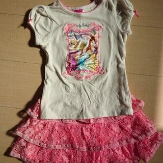 コストコ(コストコ)のUSED  Tシャツ・スカートセット  プリンセス  4T  コストコ(Tシャツ/カットソー)