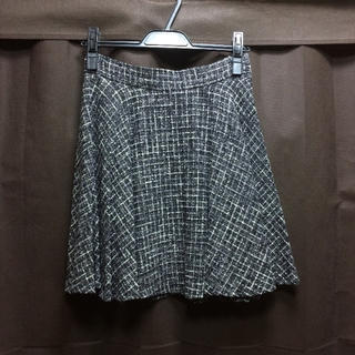 ロディスポット(LODISPOTTO)のLODISPOTTO キラキララメツイードフレアスカート(ひざ丈スカート)