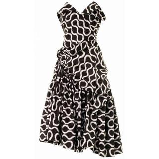 ヴィヴィアンウエストウッド(Vivienne Westwood)のスクイグル柄コルセットドレス(ミディアムドレス)