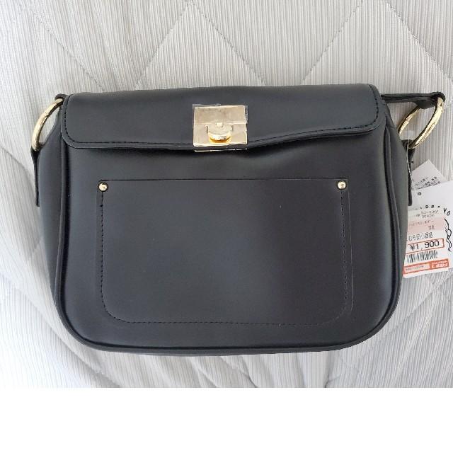 しまむら(シマムラ)のプチプラのあや マエポケットツキショルダー 濃黒 しまむら レディースのバッグ(ショルダーバッグ)の商品写真