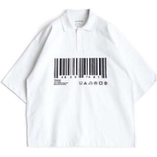 "SHAREEF - シャリーフ SHAREEF ""BARCODE"" BIG POLO SHIRTS"