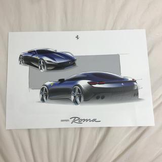 フェラーリ(Ferrari)のフェラーリ ローマ デッサンスケッチ(カタログ/マニュアル)
