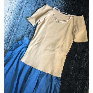 ナチュラルビューティーベーシック(NATURAL BEAUTY BASIC)のボートネック♥リブT(Tシャツ(半袖/袖なし))