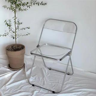 【送料無料】スケルトン クリア チェア 椅子 透明 韓国 インテリア 一人暮らし