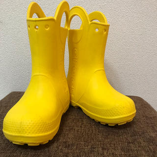 crocs - クロックス レインブーツ ハンドルイット 長靴 C11  18cm イエロー