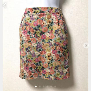 ノーブル(Noble)のNoble花柄スカート(ひざ丈スカート)