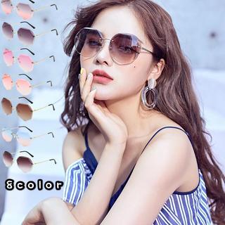 8色グラデーションサングラス レディース UVカット フチなしサングラス(サングラス/メガネ)