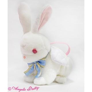 アンジェリックプリティー(Angelic Pretty)のアンプリ holy bunnyバッグ 新品 白 うさぎ バニー(ショルダーバッグ)