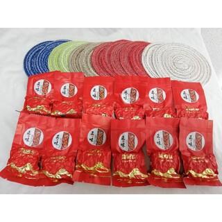 中国茶 中国名産品 鉄観音烏龍茶10袋 免疫力UP ティーカップマット3枚(茶)