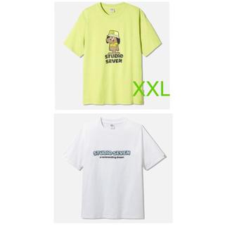 GU - GU studio sevenスタジオセブン ビッグTシャツ 二枚セット XXL