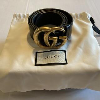Gucci - 【美品】GUCCI GG LEATHER BELT GOLD 85 34