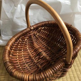 ムジルシリョウヒン(MUJI (無印良品))の超美品❗️無印 オーバルバスケット 小(バスケット/かご)