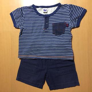 ニシマツヤ(西松屋)のフタバ  Tシャツ & 西松屋 半ズボン 95cm セットアップ(その他)