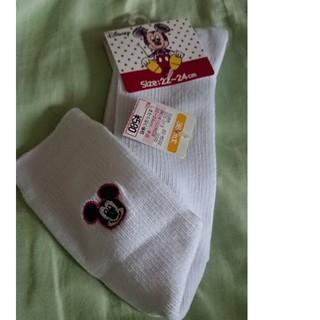 シマムラ(しまむら)の靴下 ミッキー 22~24センチ 長さ38センチ丈(ソックス)