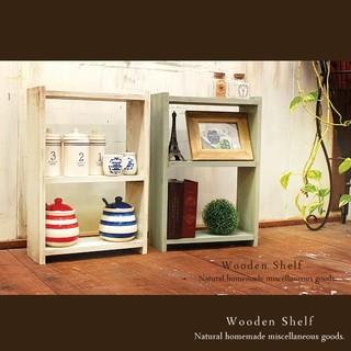 ハンドメイド ☆2点セット☆アンティーク風 ミニ シェルフ 木製 棚(家具)