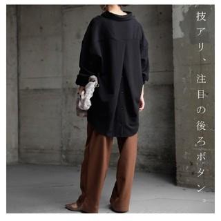アンティカ(antiqua)のアンティカ バックボタンシャツ(シャツ/ブラウス(長袖/七分))