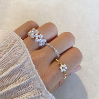 ビーズリング 韓国 ビーズ 指輪 #37(リング)