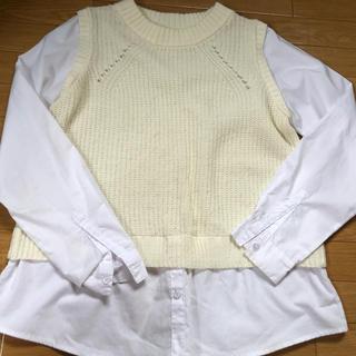 ニットシャツ(シャツ/ブラウス(長袖/七分))