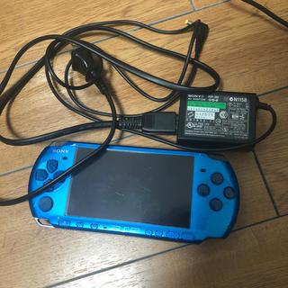 SONY - 送料込☆PSP3000 本体 ブルー 充電器セット