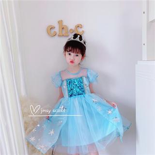 アナと雪の女王 - 【新品】 エルサドレス ふんわり丈短め ドレス アナ雪 プリンセスドレス