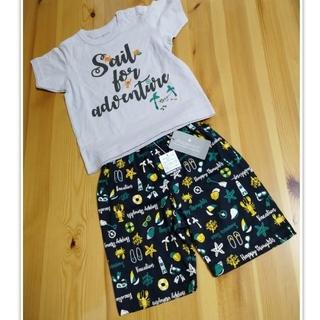 アンパサンド(ampersand)の新品 AMPERSAND 半袖+半ズボン パジャマ 90cm(パジャマ)