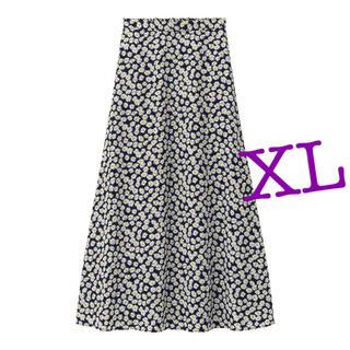 GU デイジープリントフレアロングスカート XL 新品未使用品タグ付き