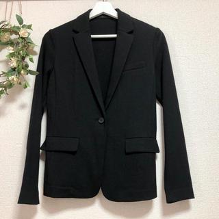 ユニクロ(UNIQLO)のジャケット ブラック 黒 ユニクロ 薄手 レディース 女性用 未使用(テーラードジャケット)