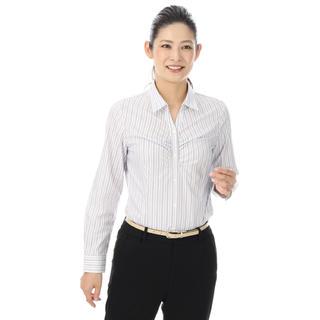 アオヤマ(青山)の洋服の青山 スキッパーカラーシャツ(長袖)(シャツ/ブラウス(長袖/七分))