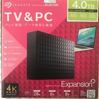 エクスパンション(EXPANSION)の新品 Seagate SGD-JMX040UBK 外付けHDD 4TB(PC周辺機器)
