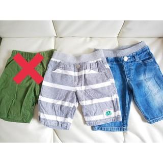ニシマツヤ(西松屋)の【男の子】ハーフパンツ 100サイズ  デニム (パンツ/スパッツ)