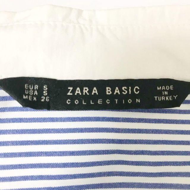 ZARA(ザラ)の★ザラ★ZARA★刺繍レース ブラウス ストライプ チュニック シャツ S レディースのトップス(シャツ/ブラウス(長袖/七分))の商品写真