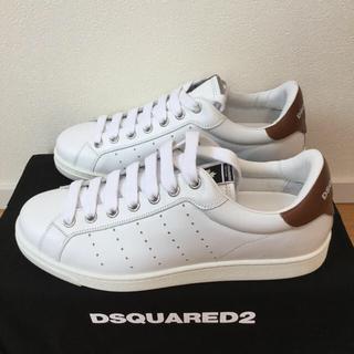 ディースクエアード(DSQUARED2)の【新品】DSQUARED2 ホワイトスニーカー43 ディースクエアード(スニーカー)
