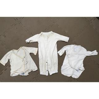 ムジルシリョウヒン(MUJI (無印良品))の新生児セット 無印良品 肌着 ロンパース 50〜60 (肌着/下着)