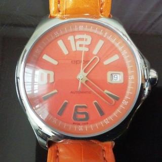 エポス(EPOS)のepos 3326OL ビッグフェイス 自動巻 オレンジ(腕時計(アナログ))