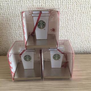 スターバックスコーヒー(Starbucks Coffee)の未使用 スタバホリデースタンプ  オーナメント3個(その他)