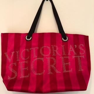 Victoria's Secret - Victoria's Secret ラインストーン付きストライプ柄トートバッグ