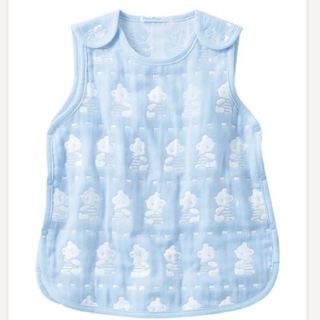 familiar(ファミリア)のfamiliar スリーパー ブルー キッズ/ベビー/マタニティのこども用ファッション小物(おくるみ/ブランケット)の商品写真