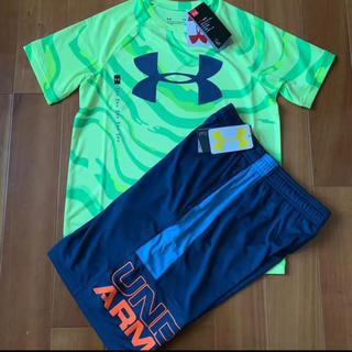 UNDER ARMOUR - アンダーアーマー Tシャツ パンツ 150 イエロー✖️ネイビー