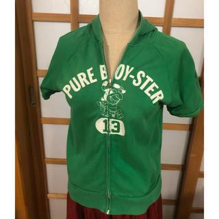 BEAMS BOY - ビームスボーイ 緑の半袖薄手パーカー