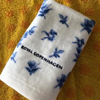 ロイヤルコペンハーゲン(ROYAL COPENHAGEN)のロイヤルコペンハーゲンハンドタオル bl小花(タオル/バス用品)