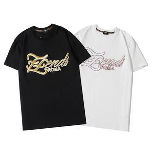 FENDI - 新品「2枚10000円送料込み」フェンディ 男女兼用Tシャツ半袖夏着⑤